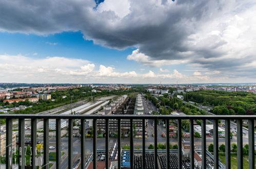 cetin ustredni telekomunikacni budova zizkov prazske vyhledy vyhlidka v praze
