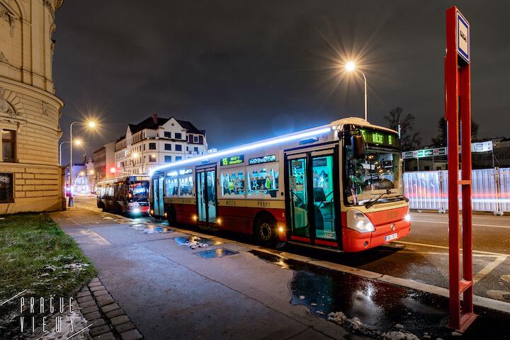 christmas retrobus bus prague