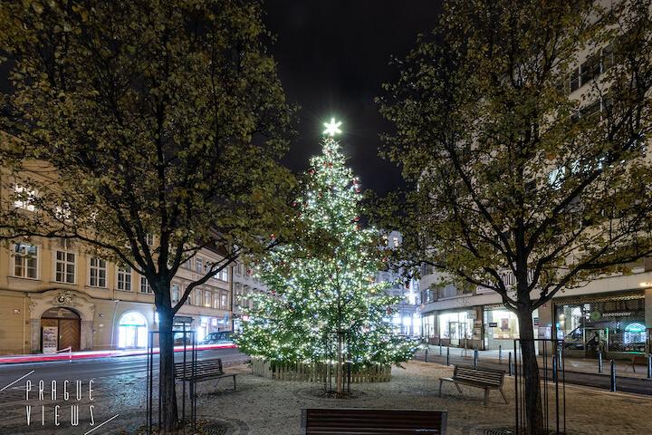 prague christmas tree vodickova jugmannova